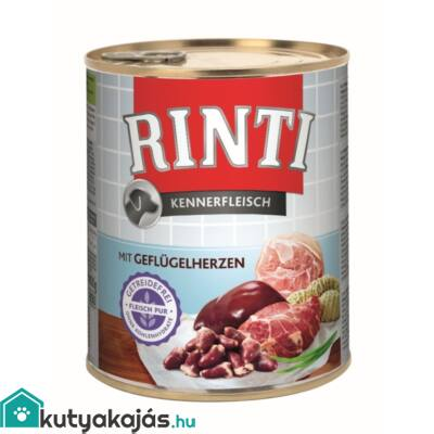 Rinti Dog Kennerfleisch Konzerv Szárnyas Szív800g