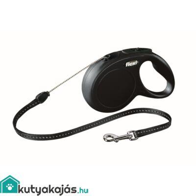Flexi Új Classic Zsinór S 8m Fekete 12kg