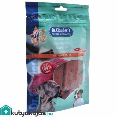 Dr.Clauders Dog Premium Nyúlfilé Csíkok 80g