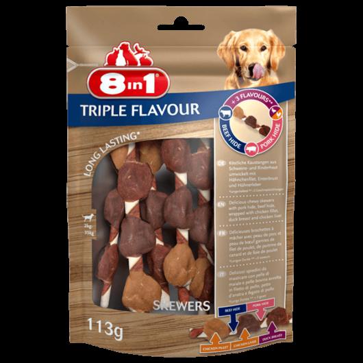 8in1 Triple Flavour Húsos nyárs 113g