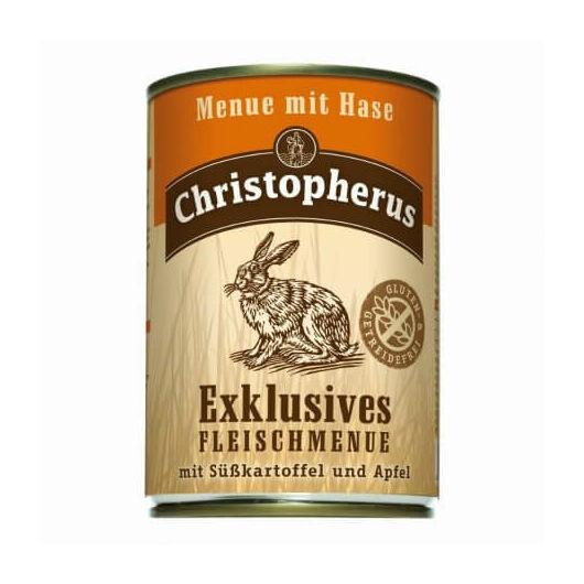 Christopherus Exklusives Menü Nyúllal, édesburgonyával és almával 800g