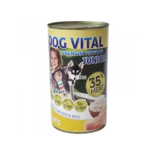 Dog Vital Junior konzerv chicken&rice 1240gr