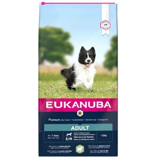 Eukanuba Adult Small & Medium Lamb & Rice kutyatáp 18kg