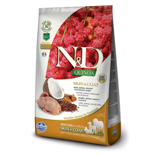N&D Dog Grain Free Quinoa Skin&Coat Fürj 800 g