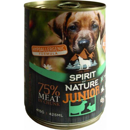 Spirit of Nature Dog konzerv Junior Bárányhússal és Nyúlhússal 415g