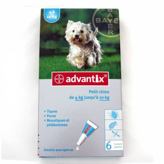 Advantix spot on 1 ml; 4-10 kg 1X
