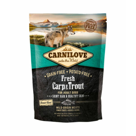 Carnilove Fresh Adult Dog Ponty & Pisztráng - Hair & Healthy Skin 1,5 kg kutyatáp