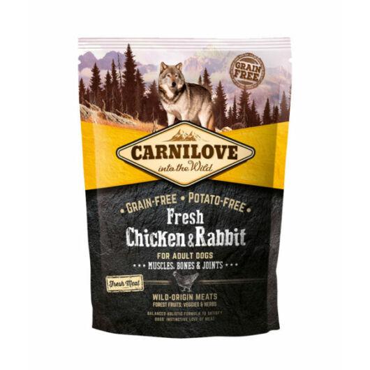 Carnilove Fresh Adult Dog Csirke & Nyúl - Muscles, Bones & Joints 1,5 kg kutyatáp