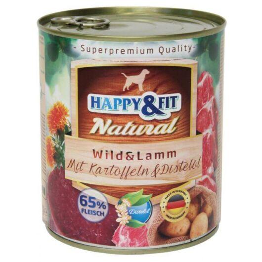 Happy&Fit Natural felnőtt, vad, bárány, burgonya 400g