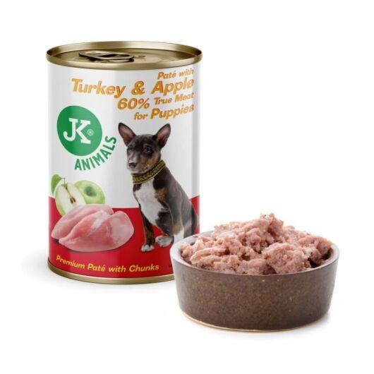 JK PUPPY pulyka, alma prémium pástétom, 60% hústartalommal 400g