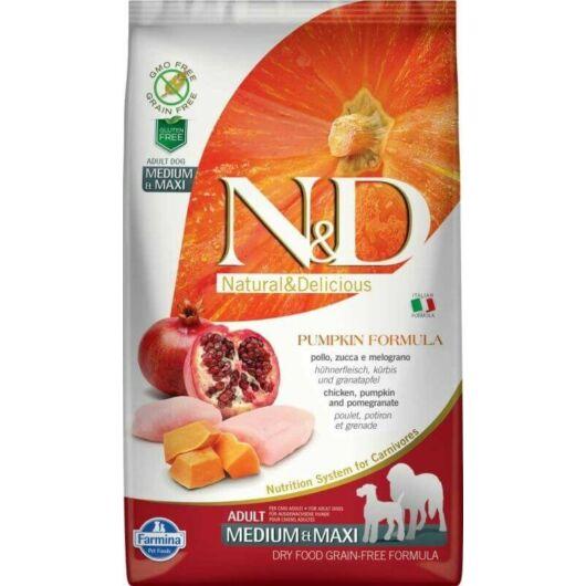 N&D Dog Grain Free csirke&gránátalma sütőtökkel adult medium&maxi 12kg kutyatáp