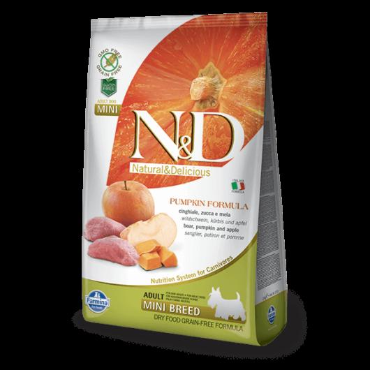 N&D Grain Free vaddisznó&alma sütőtökkel adult mini 2x 7kg
