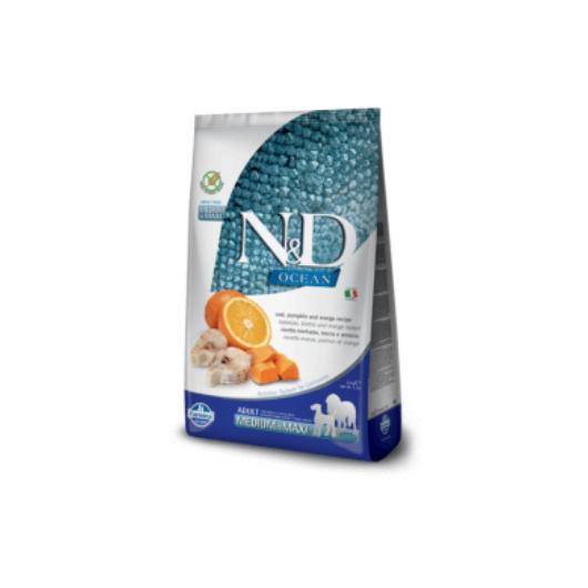 N&D Dog Ocean tőkehal sütőtök&narancs adult medium/maxi 2,5kg