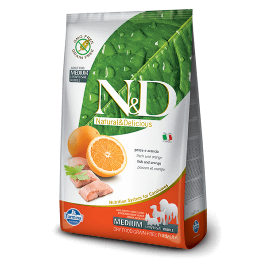 N&D Grain Free hal&narancs adult medium 12kg kutyatáp