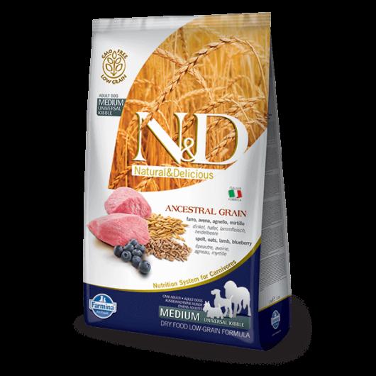 N&D Low Grain Dog Bárány&áfonya adult medium 12kg kutyatáp