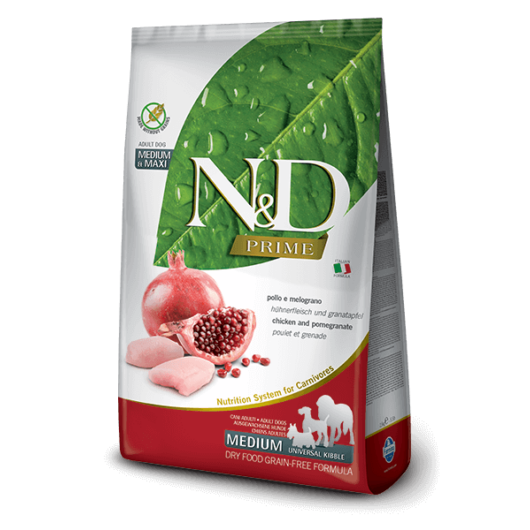 N&D Prime csirke&gránátalma adult medium/maxi 2,5kg kutyatáp