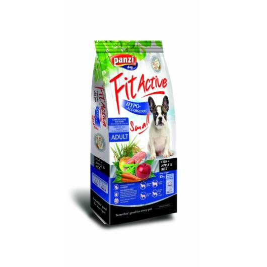 Panzi FitActive Hypoallergenic Small Fish, Apple & Rice kutyatáp 300g