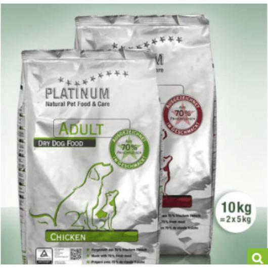 Platinum Natural Adult Duo - 5 kg Csirke, 5 kg Bárány