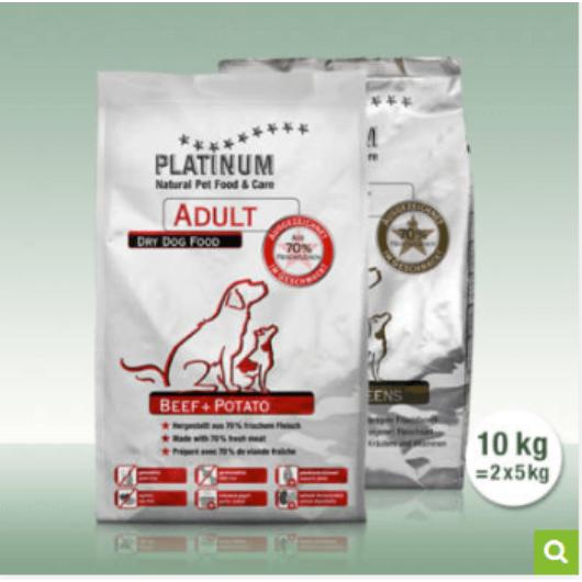 Platinum Natural Adult Duo - 5 kg Marha, 5 kg Ibériai sertés
