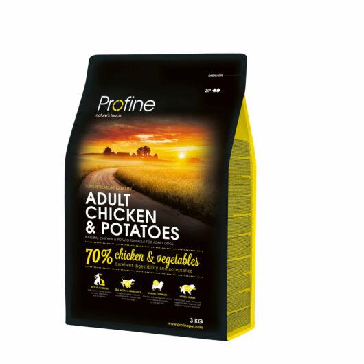 Profine Adult Chicken & Potatoes 3 kg kutyatáp