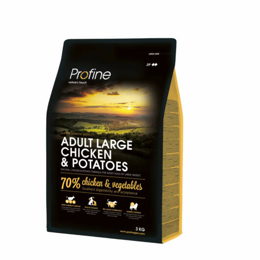 Profine Adult Large Breed Chicken & Potatoes 3 kg kutyatáp