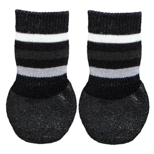 Trixie Kutya zokni csúszásmentes M-L 2db/csomag fekete