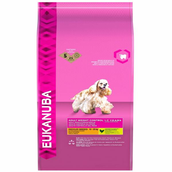 Eukanuba Adult Medium Breed Weight Control 3kg kutyatáp