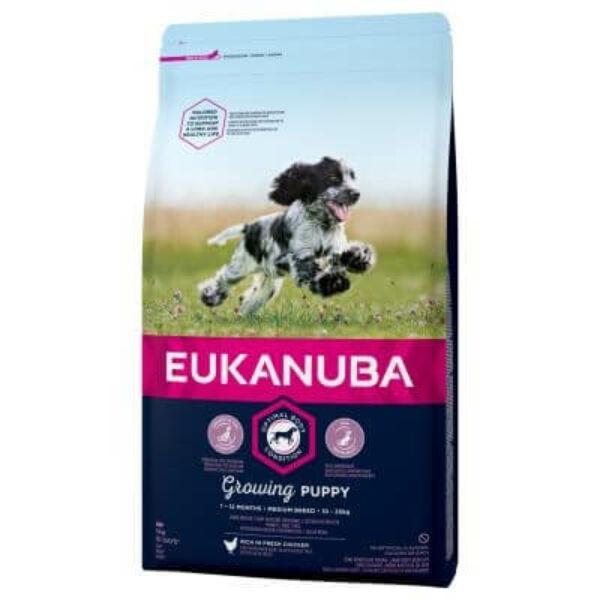 Eukanuba Puppy Medium 15kg kutyatáp