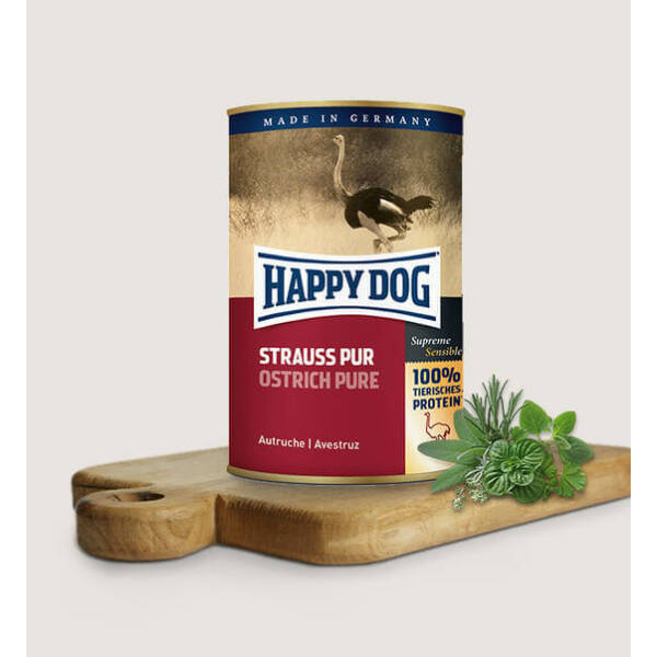 Happy Dog Strauss Pur (Stucc) 400 gr