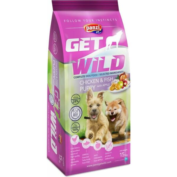 Panzi GetWild Dog Puppy Chicken & Fish with Apple 15 kg