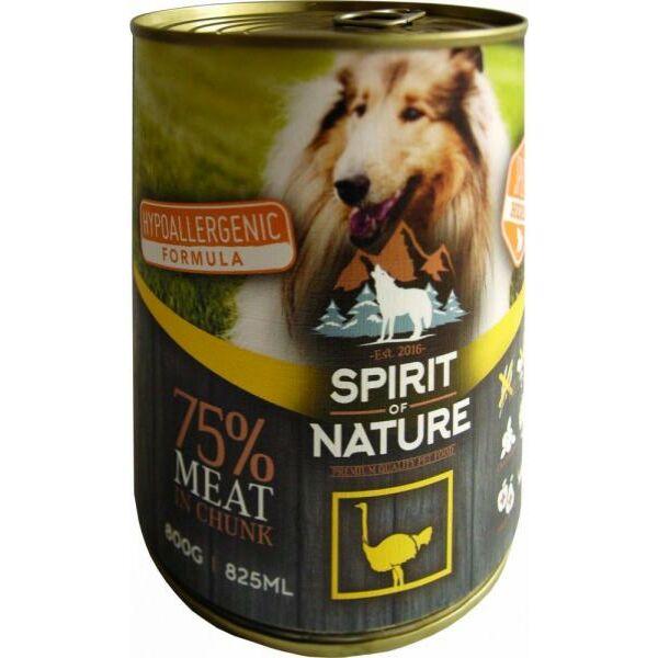 Spirit of Nature Dog konzerv Strucchússal 800gr kutyatáp
