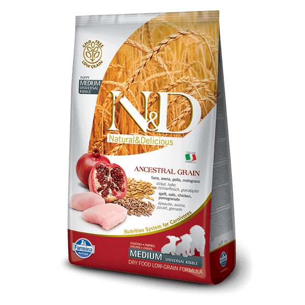N&D Low Grain Dog Csirke&gránátalma puppy medium 800g kutyatáp