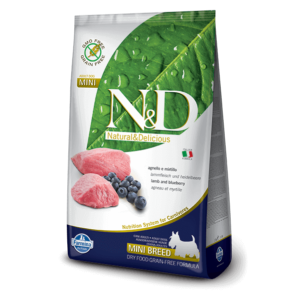 N&D Grain Free bárány&áfonya adult mini 800g kutyatáp