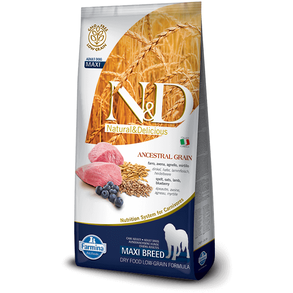 N&D Low Grain Dog Bárány&áfonya adult maxi 12kg kutyatáp