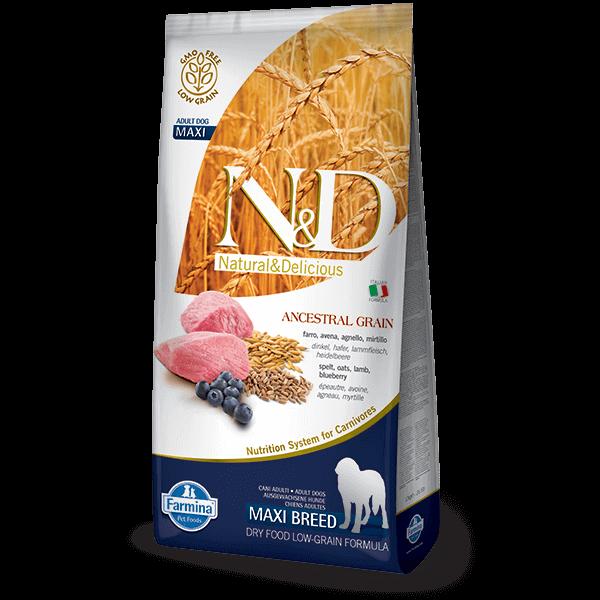 N&D Low Grain Dog Bárány&áfonya adult maxi 2x 12kg kutyatáp