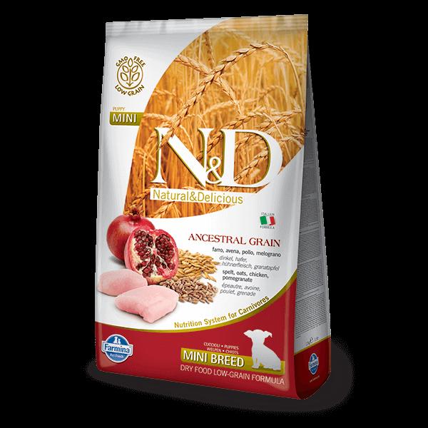 N&D Low Grain Dog Csirke&gránátalma puppy mini 800g kutyatáp