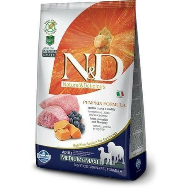 N&D Dog Grain Free bárány&áfonya sütőtökkel adult medium/maxi 2,5kg kutyatáp