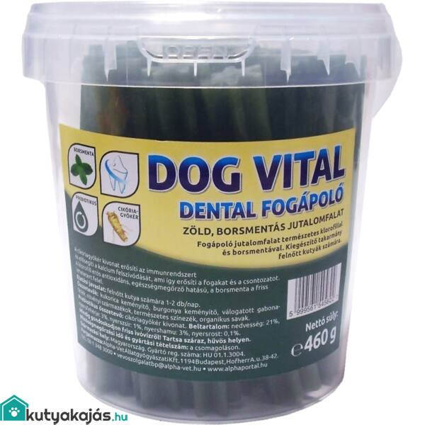 Jutalomfalat Dog Vital Dental Fogápoló / Borsmentával És Klorofillal 460g