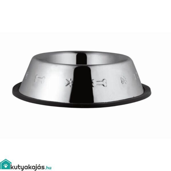 Tál Fém Etető Gumiperemes, Nyomott Mintás 0,220l / 12cm