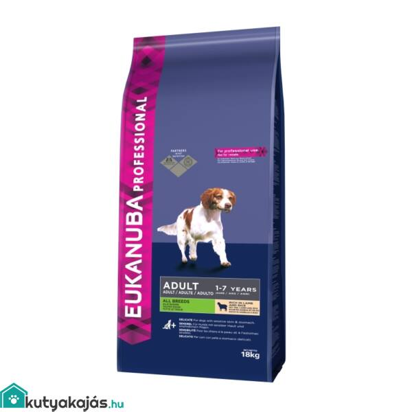 Eukanuba Adult Lamb & Rice All Breeds 18kg kutyatáp