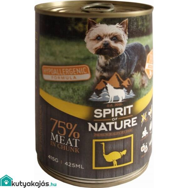 Spirit of Nature Dog konzerv Strucchússal 12x415g