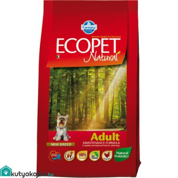 Ecopet Natural Adult Mini 14kg kutyatáp
