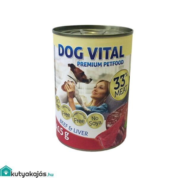 Dog Vital konzerv beef&liver&pasta 415gr